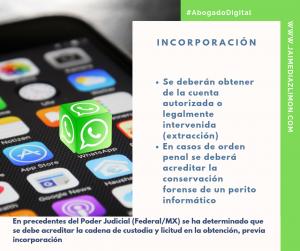 Incorporación Whatsapp Evidencia Digital